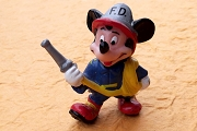 Vintage Mickey Mouse the Firefighter Figurine
