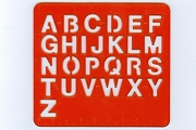 Old Time Plastic Alphabet Stencil with Handy-Dandy Rulers