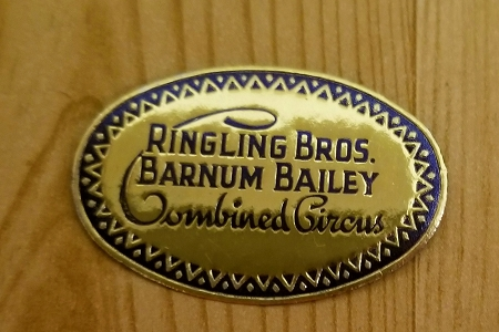 Very Old Golden Foil Ringling Bros. Barnum Bailey Combined Circus Label