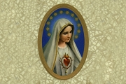 Sheet of Our Lady of Fatima Oval Stickers<br>Now with 11 Stickers - Same Price!</br>