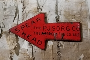 SPEARHEAD Tobacco Plug Tag - Vintage (c1910) - Arrow Shaped