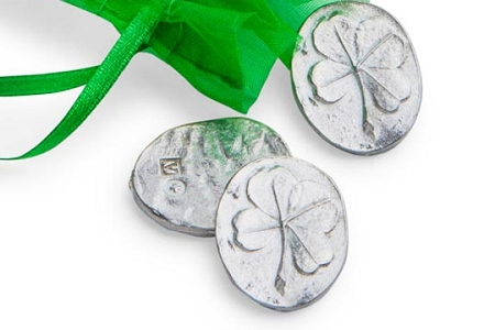 Four Leaf Clover Pewter Pocket Charm