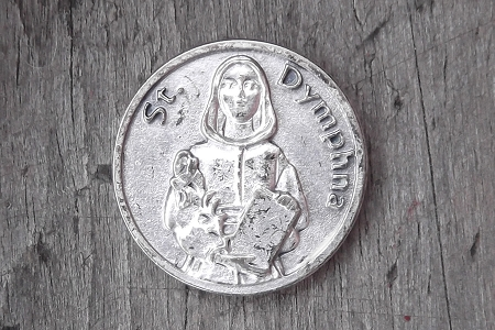 Distressed St. Dymphna Token - Patron Saint of Mental Illness and Dysfuntional