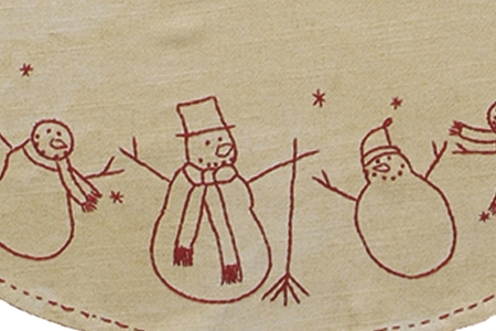 Vintage-Style Snowman Family Tree Skirt