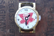 Vintage Bozo the Clown Tin Toy Strapless Watch