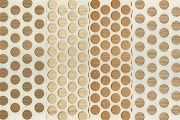 120 Self-Adhesive REAL Wood Dots Stickers