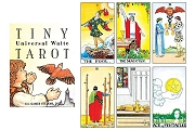 Tiny Universal Waite Tarot Deck of 78 cards in BLUE BOX