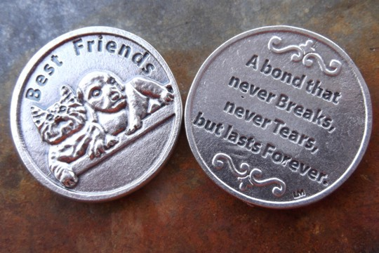 Best Friends Token with Cat and Dog