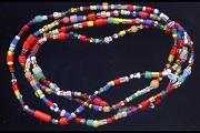 Strand of Glass African Christmas Trade Beads (some vintage)