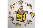 Vintage Romper Room Iron-On Transfer featuring Mr. Do-Bee and Jack-in-the-Box