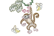 Old Fashioned Iron-On Transfers - Monkey Love