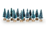 Teensy 1-1/4 Inch Frosted Bottle Brush Tree with Snow