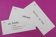 German Vocabulary Cards - Package of 3
