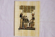 Hand-Painted Papyrus Portrait #4 - Dinner or Supper - Suitable for Framing