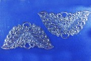 Vintage Clear Plastic Wings Charms - Package of 5