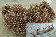 Vintage Gold Woven Spiral Wire by the Inch