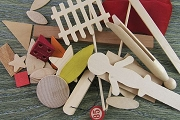 Wooden Collage Parts