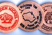 Old Fashioned Wooden Nickel