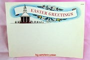 Vintage Easter Greetings Western Union Form