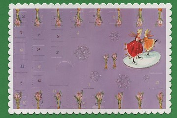 Stand-Up Advent Calendar Card with Mini Enclosure Envelope