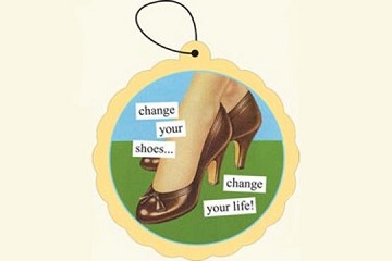 Anne Taintor Air Freshener - Change Your Shoes - Change Your LIfe (Leather Scent)