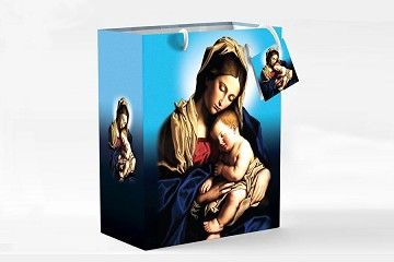 High Quality Madonna and Child Gift Bag with Tag & Wrapping Tissue