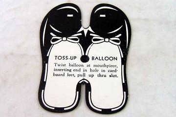 Vintage Toss-Up Ballloon Shoes - Package of 5 - Toss up the Balloon and It Will Land on Its Feet