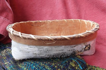 Hand Made Indigenous Style Birch Bark Basket