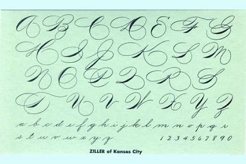 Blotter with Spencerian-Style Script