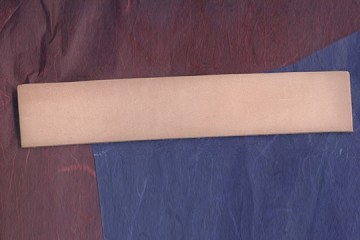 Finished Tooling Leather Bookmark