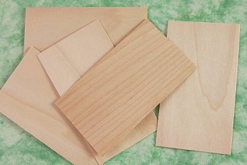 Package of 5 Wooden Veneer Business Cards