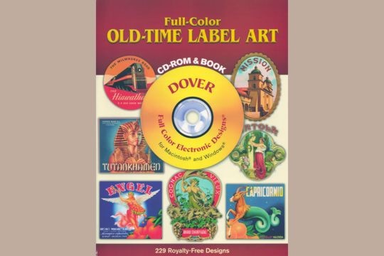 Full-color Old-Time Label Art CD-ROM and Book