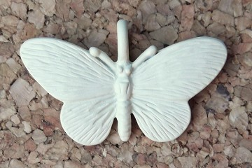 Cream Enameled Butterfly Charm
