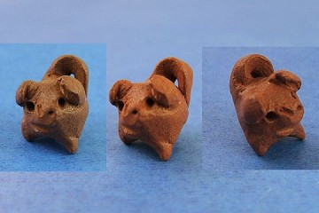 Hand-Made Chancito (Lucky 3-Legged Pig) Charm or Bead