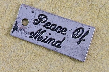 Silvery Peace of Mind Charm