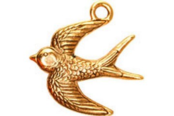 Golden Swallow Charm