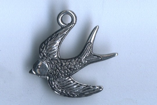 Silvery Swallow Charm