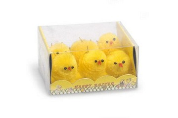 Box of 6 Old-Fashioned Chenille Easter Chicks