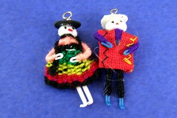 Set of 2 Charms: Cholitas Couple