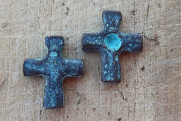 Small Patinaed Cross