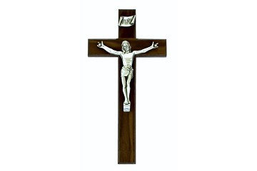 "Superb Wooden Sign Language Crucifix - ""I Love You"""