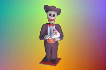 Day of the Dead Figure - LARGE Banker