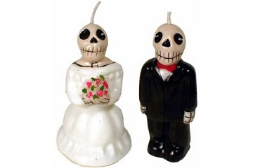 Day of the Dead Wedding Candle - Man and Woman