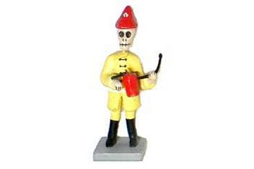 Mini Day of the Dead Figure - Firefighter