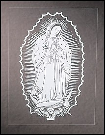 Guadalupe Glow in the Dark Decal