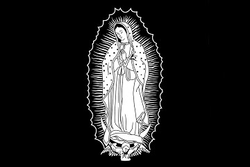 Our Lady of Guadalupe White Decal for Car Window or Artwork
