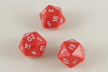 20-Sided Die - with numbers 1 through 20