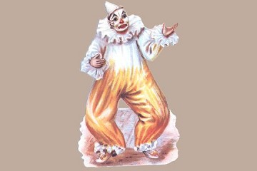 Die Cut Yellow Clown