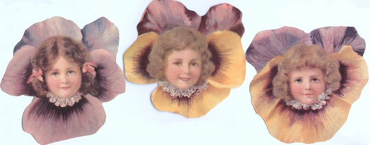 Pansy Girl Tags - Set of 3 Different
