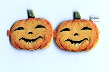 Vintage Die-Cut & Embossed Happy Pumpkins - Package of 2